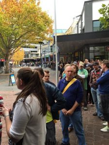 The queue outside Landspeed Records in Canberra