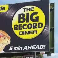 Big Red Record Diner, Bororen, Qld: free balloons, crate digging with 45s from 20c